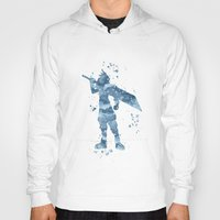 final fantasy Hoodies featuring Cloud Final Fantasy  by Carma Zoe