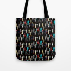 Bowie Scattered Pattern Black Tote Bag