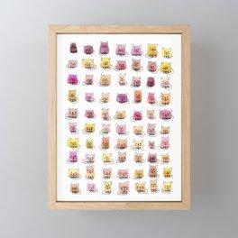 70 moods of cats Framed Mini Art Print
