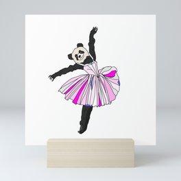 Panda Bear Ballerina Tutu Mini Art Print