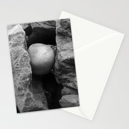 Rock Between Two Hard Places Stationery Cards