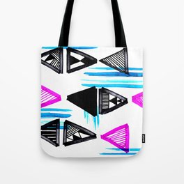 Cute Triangles and Lines Tote Bag