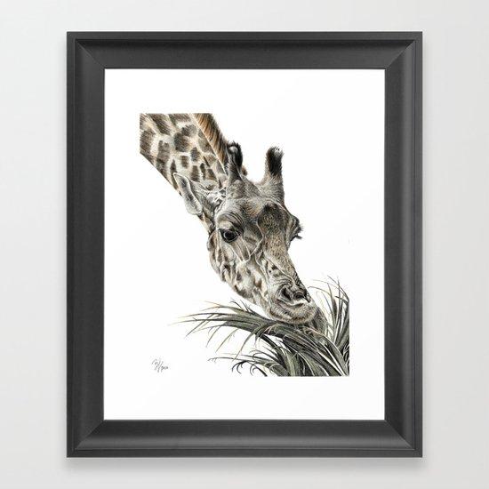 Giraffe - A Long Munch Framed Art Print