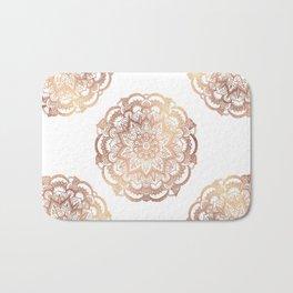 Mandala Rose-Gold Shine Bath Mat