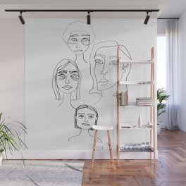 four ladies Wall Mural