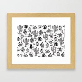 Cactus Sketch Framed Art Print