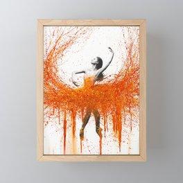 Dancing With Fire Framed Mini Art Print