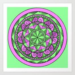 Indigo Mandala Art Print