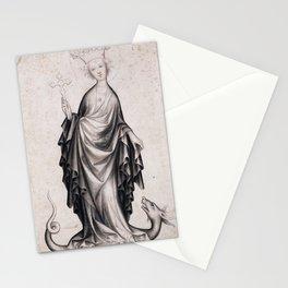 Unknown Artist (Bohemian) - Saint Margaret (1410-15) Stationery Cards