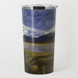 Walking with her head in the clouds Travel Mug