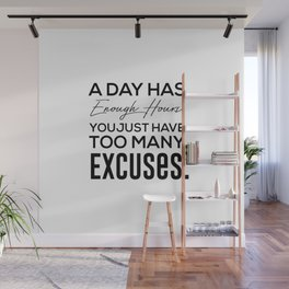 self improvement quote Wall Mural
