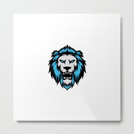 Angry Lion Jaguar Mascot Sport Esport Logo Template Metal Print