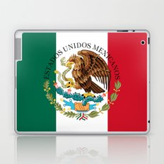 Mexican National Coat of Arms & Seal on flag colors (HQ image)  Laptop & iPad Skin