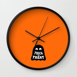 Trick or Treat – Ghost Wall Clock