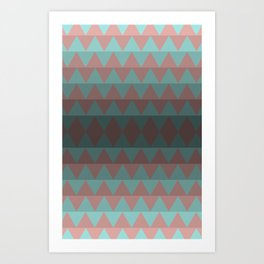 Green and Red Stripes  Art Print