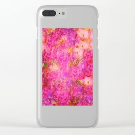 Pink and Red Vintages Roses So Shabby Chic Clear iPhone Case