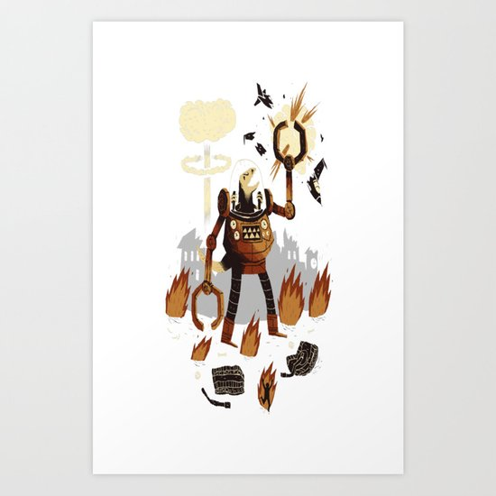 dino wars Art Print
