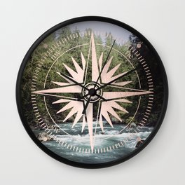Rose Gold River Adventure Wall Clock