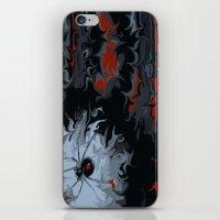 black widow iPhone & iPod Skins featuring widow by Shea33