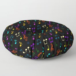 Colorful Music Notes Musician Musical Note Art  Floor Pillow