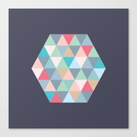 hexagon Canvas Prints featuring hexagon by vicenza