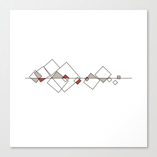 #413 Sunken city – Geometry Daily Canvas Print