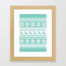 Reindeer Sweater Framed Art Print