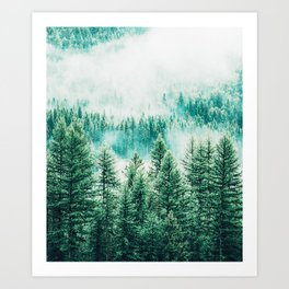 Forest + Fog #photography #nature Art Print