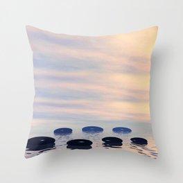 Zen Steine 1 Throw Pillow