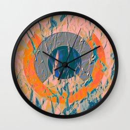 Texture Geometric Wall Clock