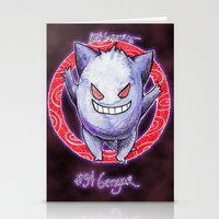 gengar Stationery Cards featuring 94 - Gengar by Lyxy