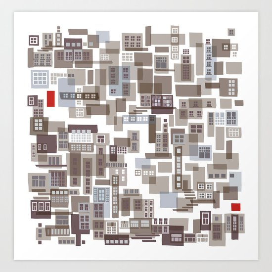 mapping home 4 Art Print