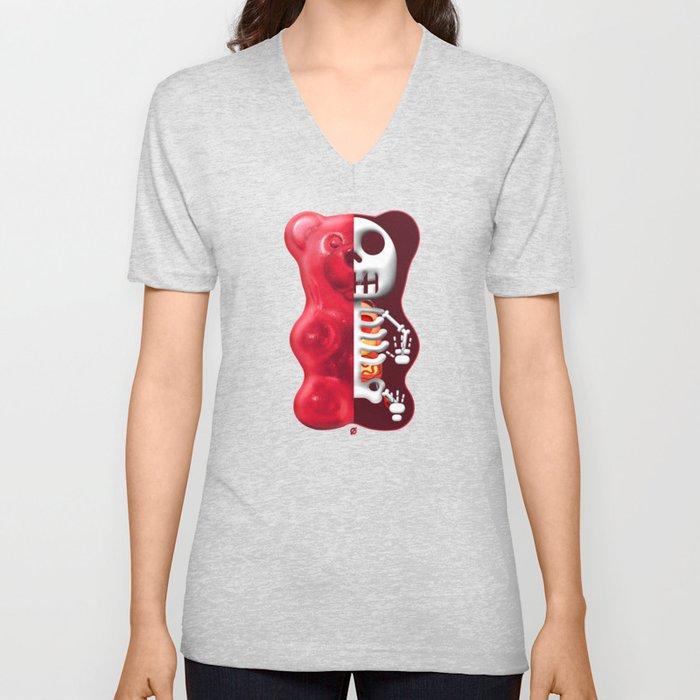 Gummy Bear Anatomy Unisex V Neck By Notordinary Society6