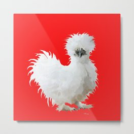 Silly White Silkie Metal Print