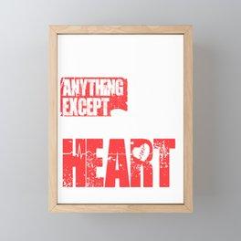 I can weld anything except a broken heart Framed Mini Art Print