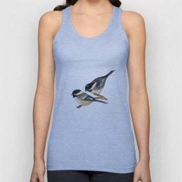 Bird-Chickadees with Lillies Unisex Tank Top