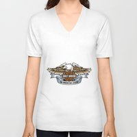 harley V-neck T-shirts featuring harley by Megoer