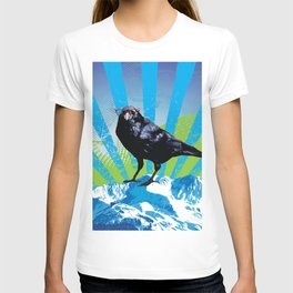 Raven on the Rise by Crow Creek Coolture T-shirt