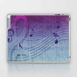 Aqua Purple Ombre Music Notes Laptop & iPad Skin