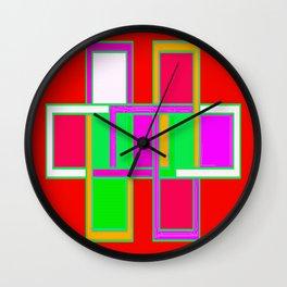 Cabsink16DesignerPatternRYG Wall Clock
