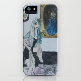 Girl with a Silk Scarf iPhone Case