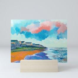 Fall Beach Scene Mini Art Print