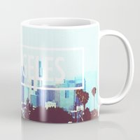 los angeles Mugs featuring Los Angeles by Heather St. Marie