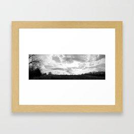 Farm Panorama Framed Art Print