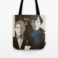 british Tote Bags featuring British Gothic by Danny Haas