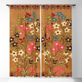 Kashan Vintage Central Persian Mat Print Blackout Curtain