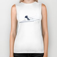 notebook Biker Tanks featuring Flying Away by Tobe Fonseca