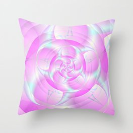 Spiral Pincers in Pink and Blue Throw Pillow