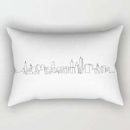 Chicago Skyline Drawing Rectangular Pillow