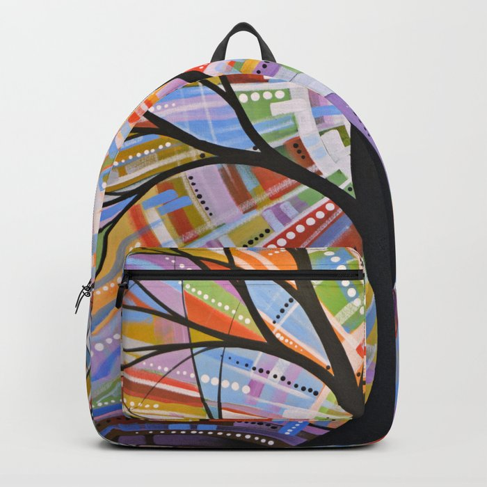 Abstract Art Landscape Original Painting ... Here Comes the Sun Backpack